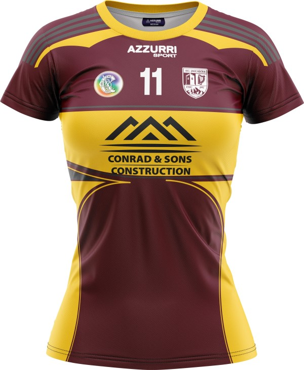 Camogie Jersey JG009 Maroon Gold