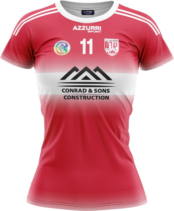 Camogie Jersey JG049 Red White