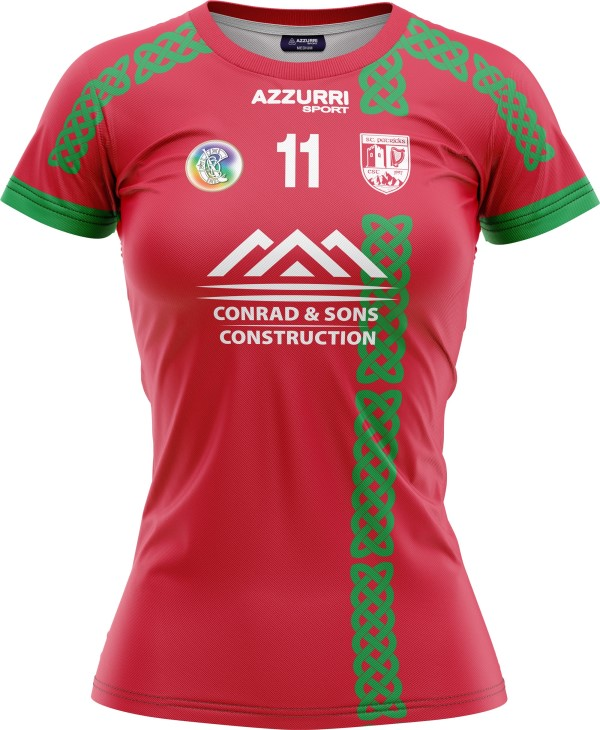 Camogie Jersey JG1023 Red Emerald