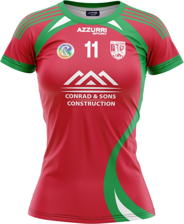 Camogie Jersey JG1060 Red Emerald